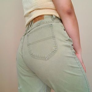 Vintage Riders Pastel Green High Waisted Mom Jeans
